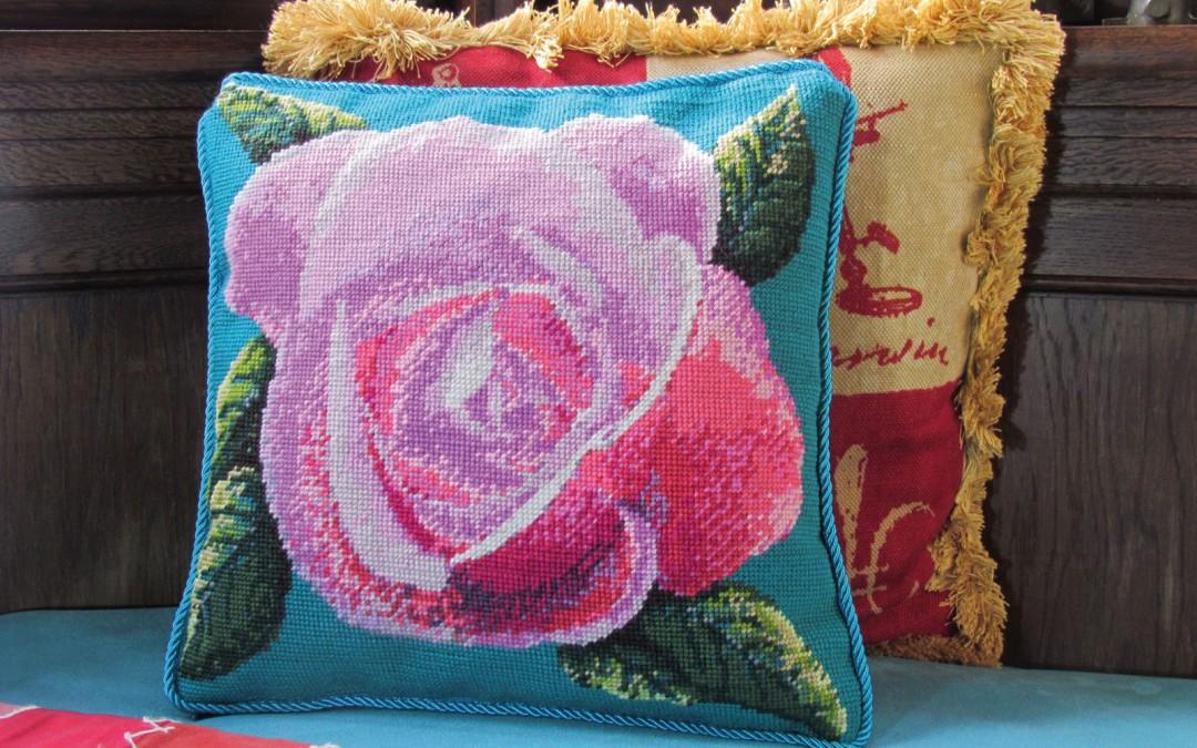 A Royal Rose Cushion