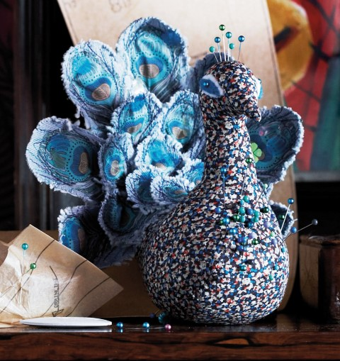 Peacock Pincushion