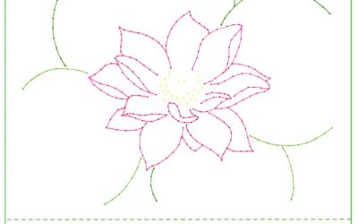Lotus Design for 5×7 Card