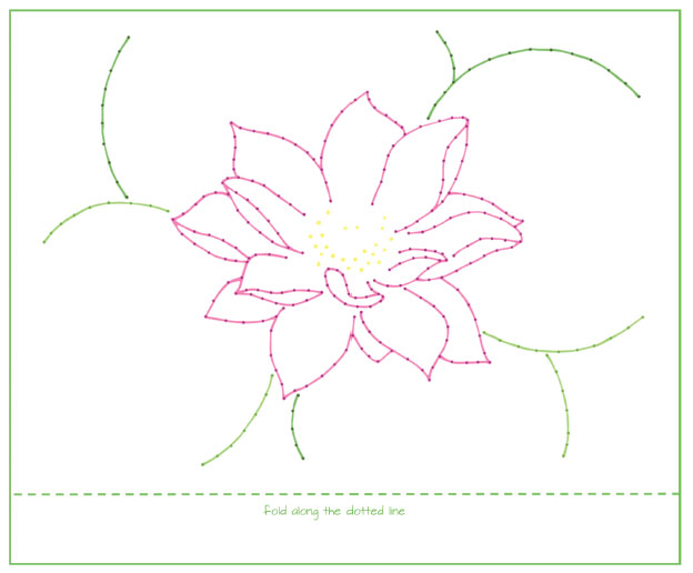 Lotus Design for 5×7 Card