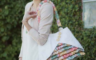 Park Bench Ruffle Purse