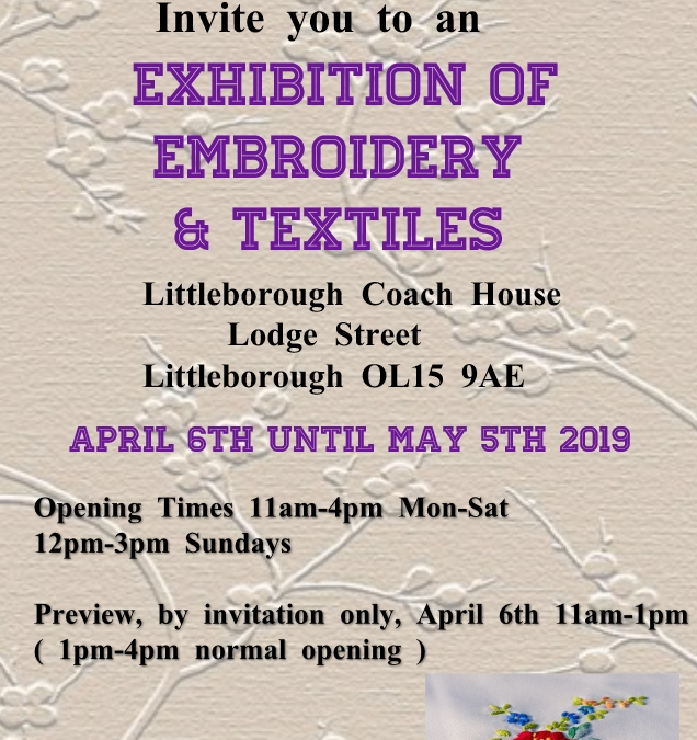 Rochdale Embroiderers Guild Exhibition of Embroidery and Textiles