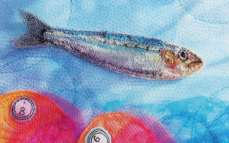 Create a Machine Embroidered Fish
