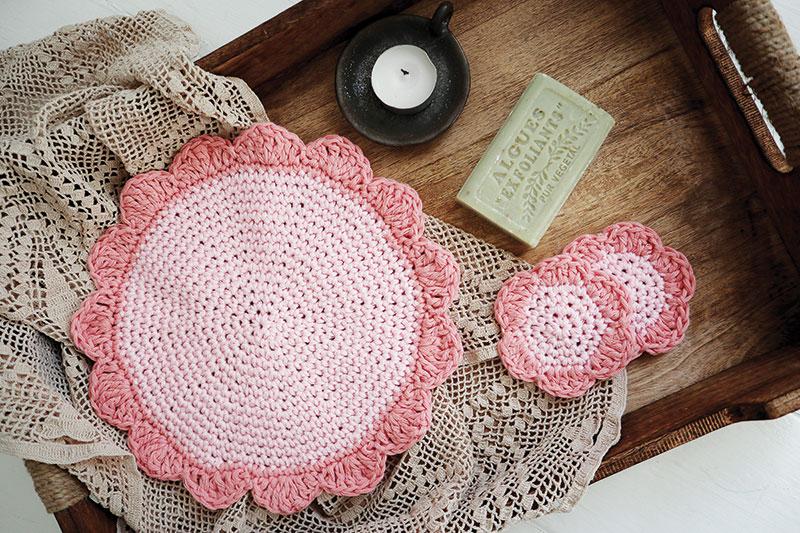 Crochet face cloths